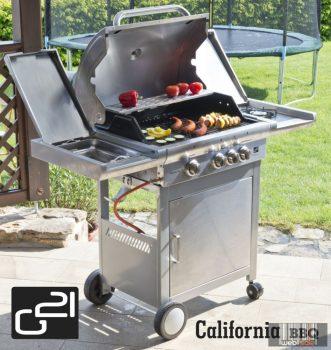 California BBQ Premium line grill, 4 égőfej + ajándék nyomáscsökkentő