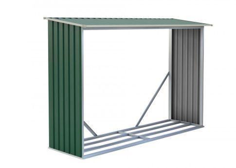 Tüzifa tároló WOH 181 - 242 x 75 cm, zöld